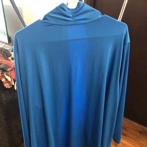 Bob Mackie wearable art blue coverup